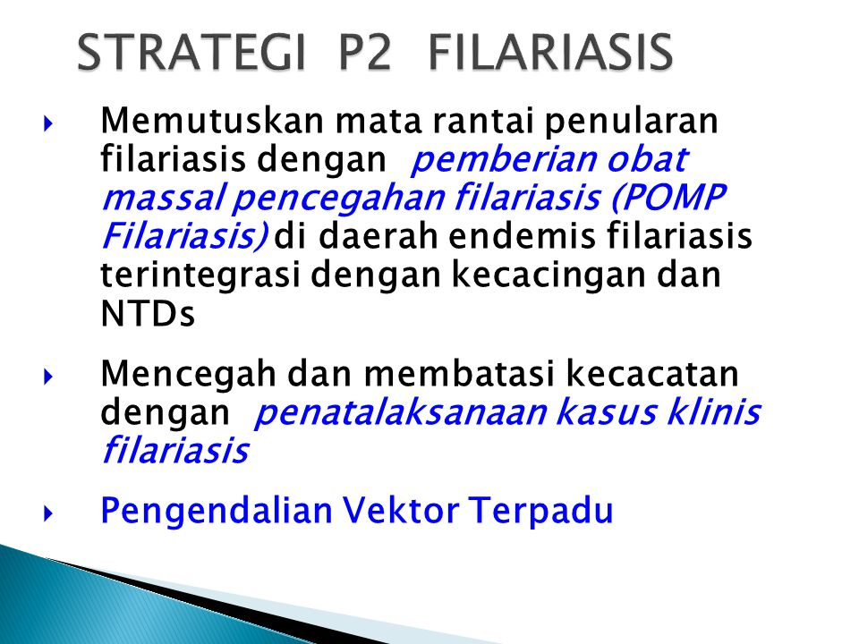 STRATEGI P2 FILARIASIS
