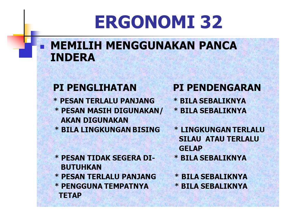 ERGONOMI 32 MEMILIH MENGGUNAKAN PANCA INDERA