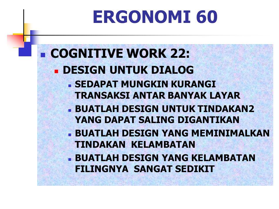 ERGONOMI 60 COGNITIVE WORK 22: DESIGN UNTUK DIALOG