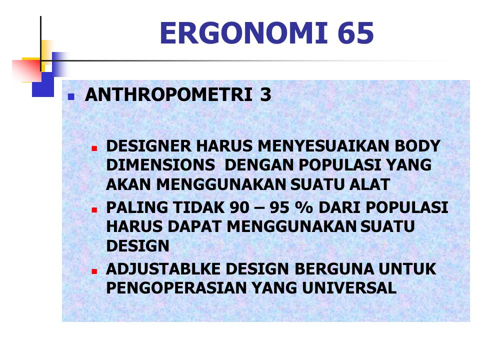 ERGONOMI 65 ANTHROPOMETRI 3