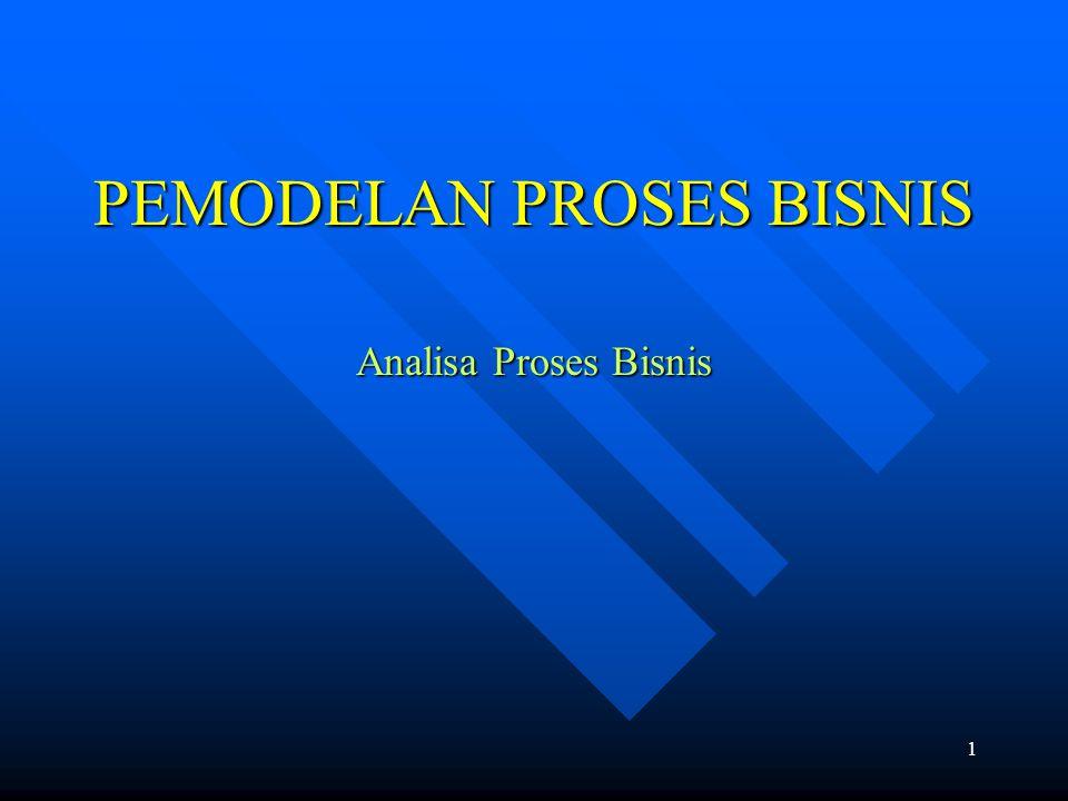 PEMODELAN PROSES BISNIS