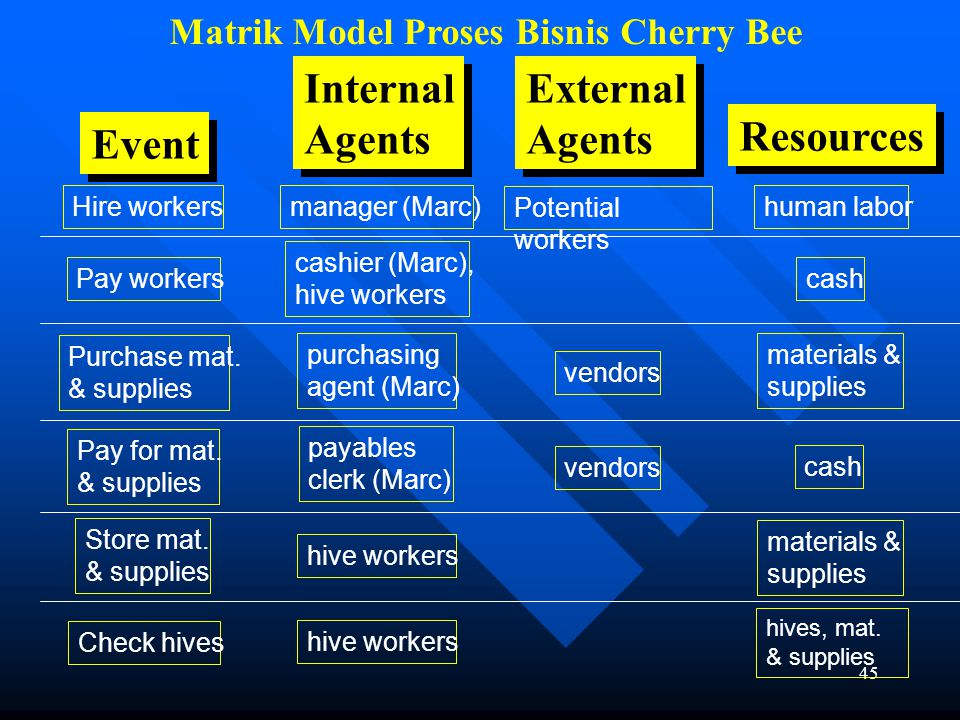 Matrik Model Proses Bisnis Cherry Bee
