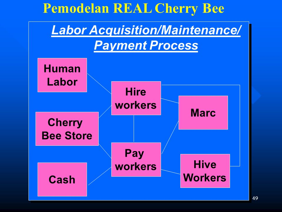 Pemodelan REAL Cherry Bee Labor Acquisition/Maintenance/