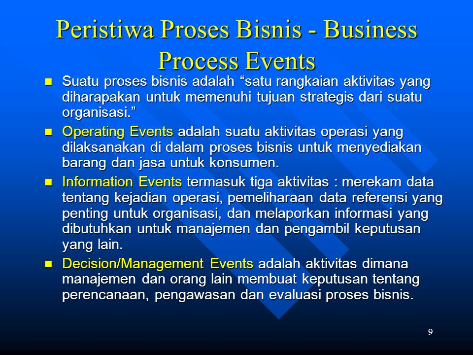 Peristiwa Proses Bisnis - Business Process Events
