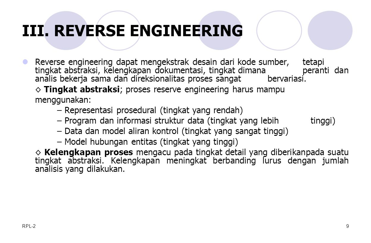 III. REVERSE ENGINEERING