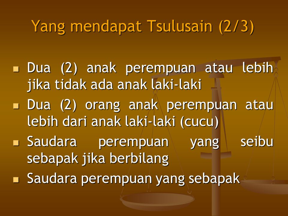 Yang mendapat Tsulusain (2/3)