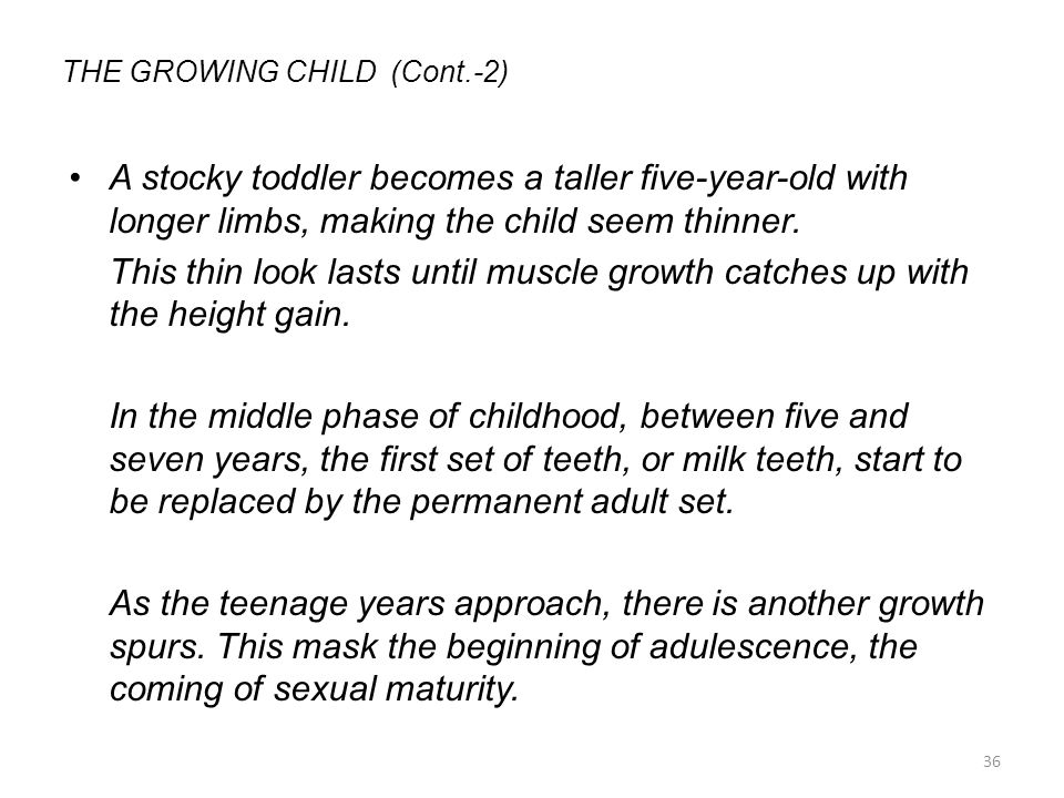 THE GROWING CHILD (Cont.-2)