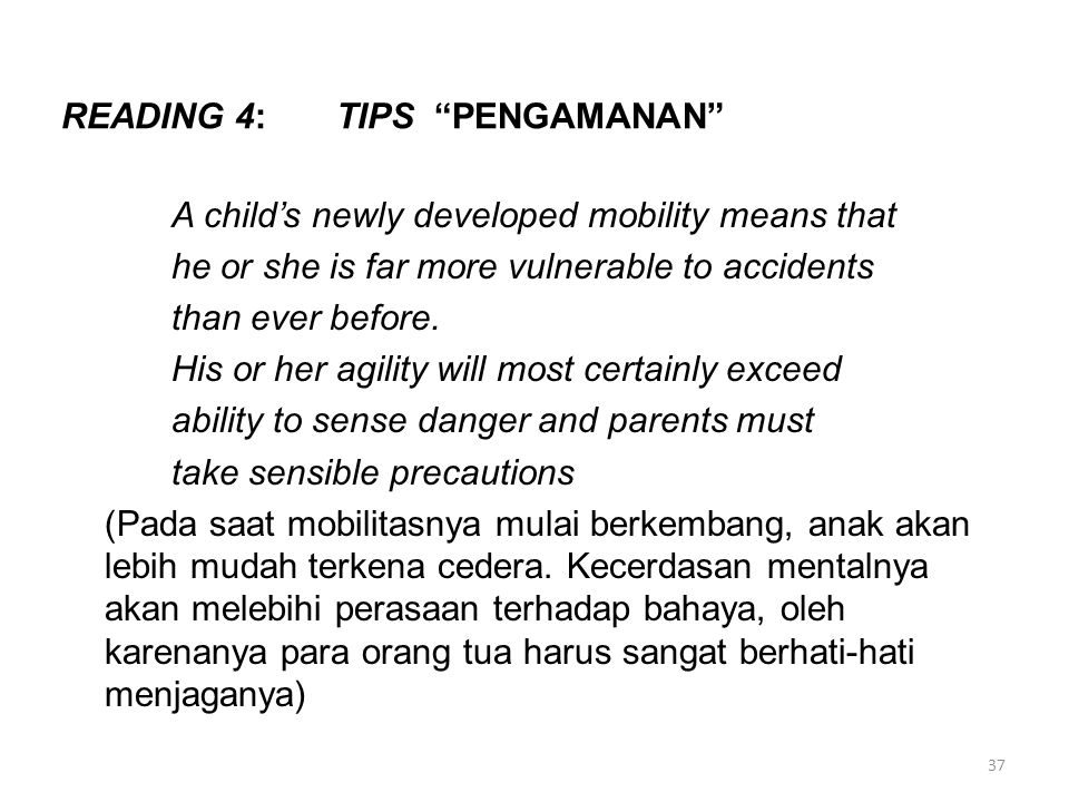 READING 4: TIPS PENGAMANAN