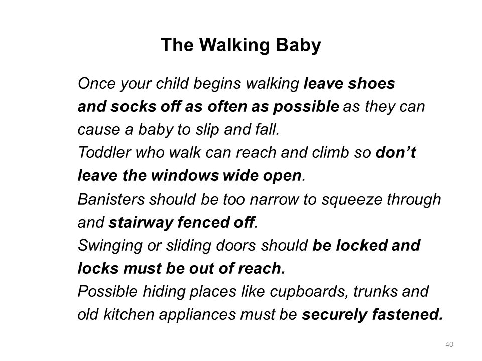 The Walking Baby