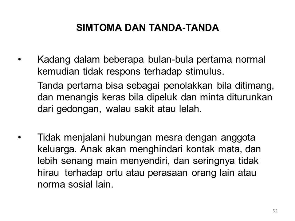 SIMTOMA DAN TANDA-TANDA
