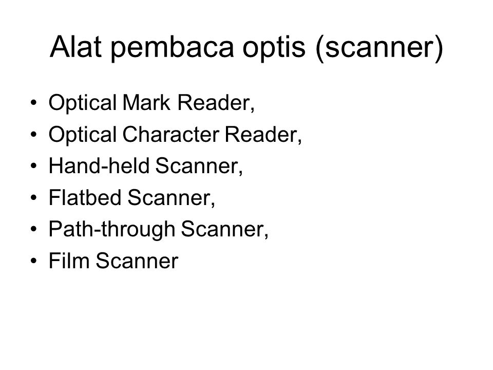 Alat pembaca optis (scanner)