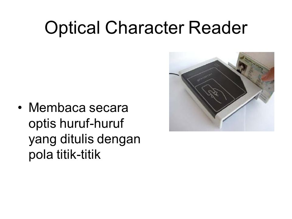 Optical Character Reader