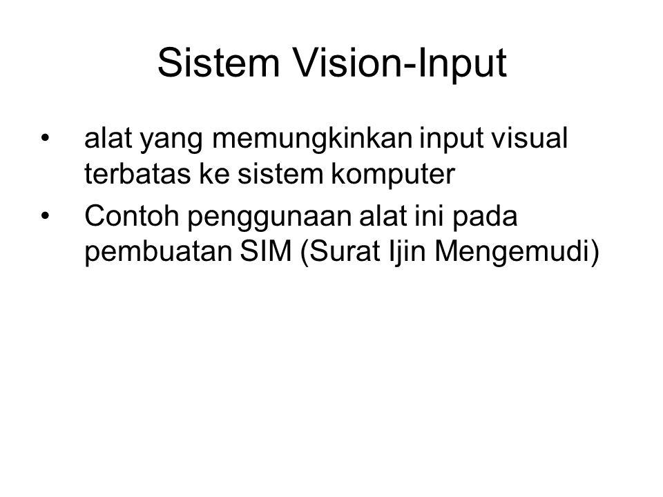 Sistem Vision-Input alat yang memungkinkan input visual terbatas ke sistem komputer.