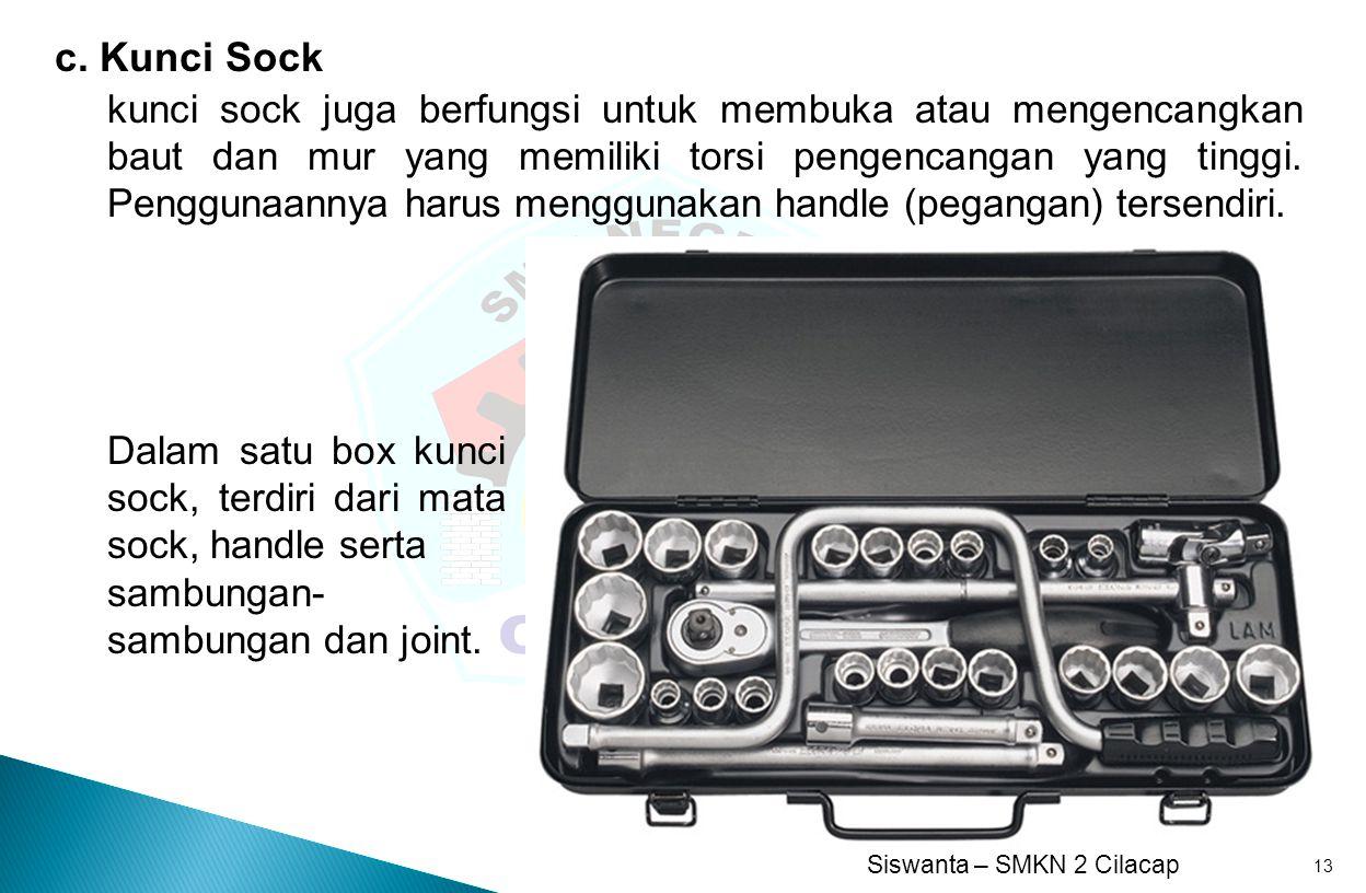 c. Kunci Sock