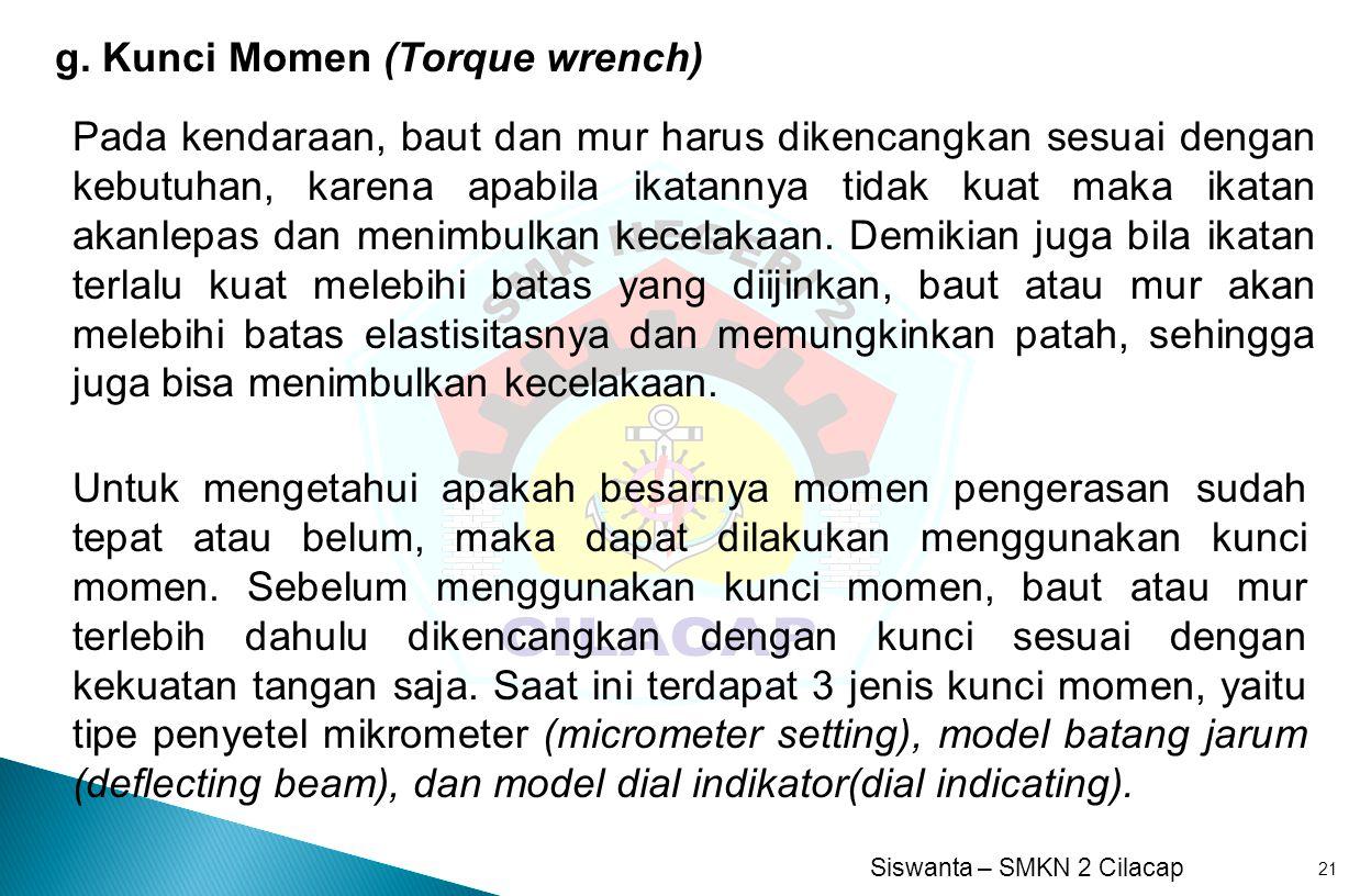 g. Kunci Momen (Torque wrench)