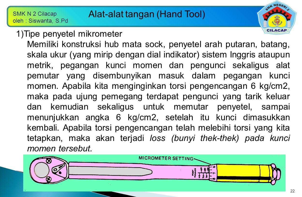 1)Tipe penyetel mikrometer