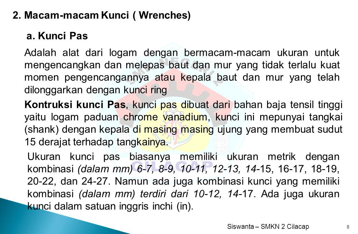 2. Macam-macam Kunci ( Wrenches)