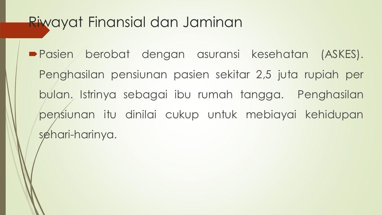 Riwayat Finansial dan Jaminan