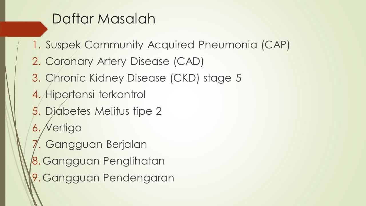 Daftar Masalah Suspek Community Acquired Pneumonia (CAP)