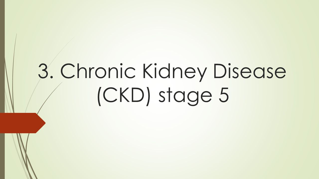 3. Chronic Kidney Disease (CKD) stage 5