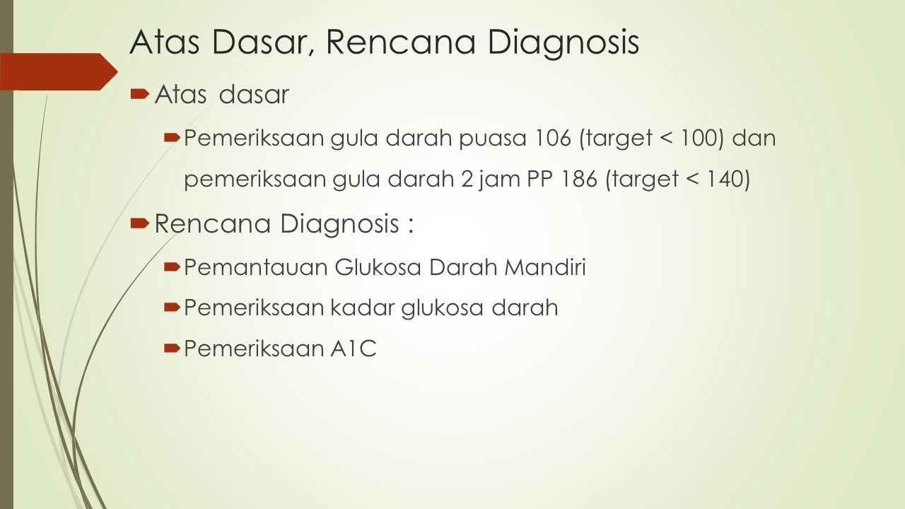 Atas Dasar, Rencana Diagnosis