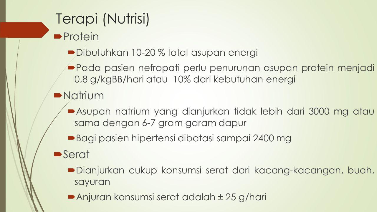 Terapi (Nutrisi) Protein Natrium Serat