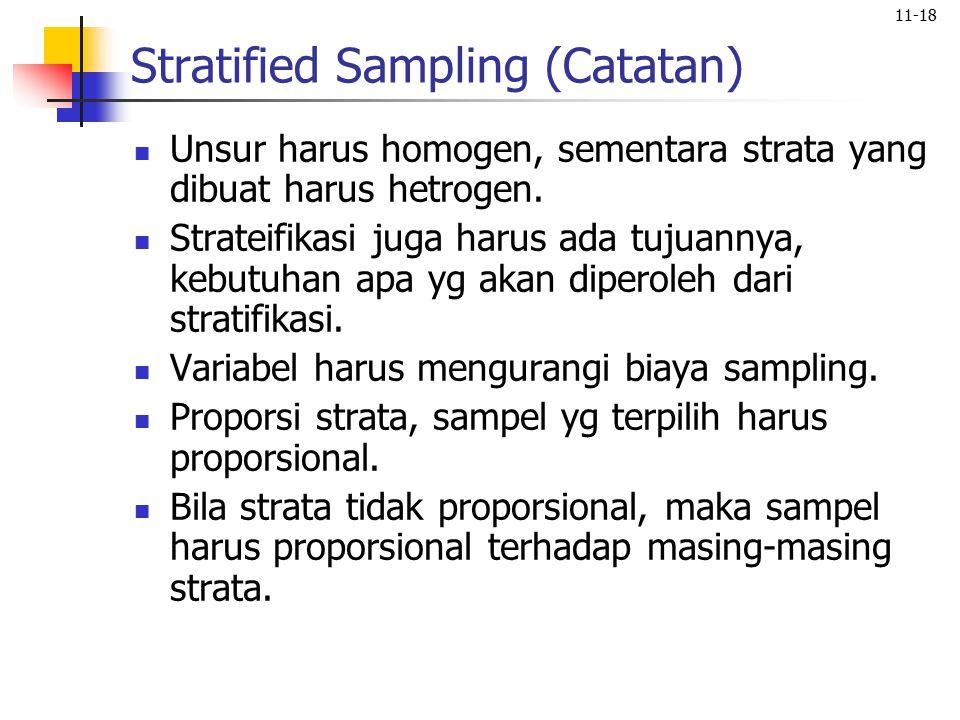 Stratified Sampling (Catatan)