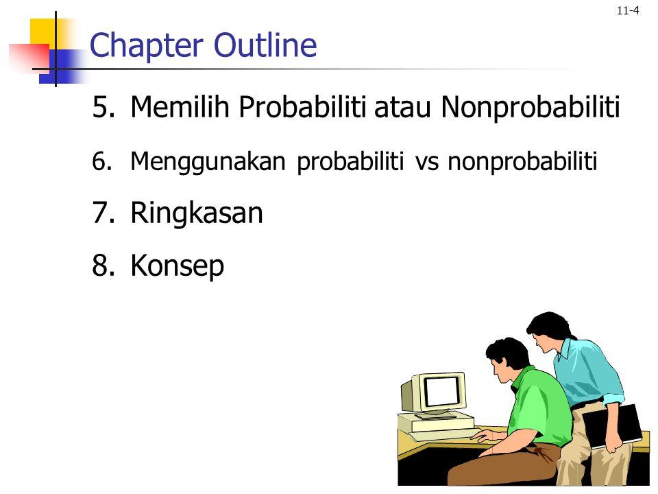 Chapter Outline Memilih Probabiliti atau Nonprobabiliti Ringkasan