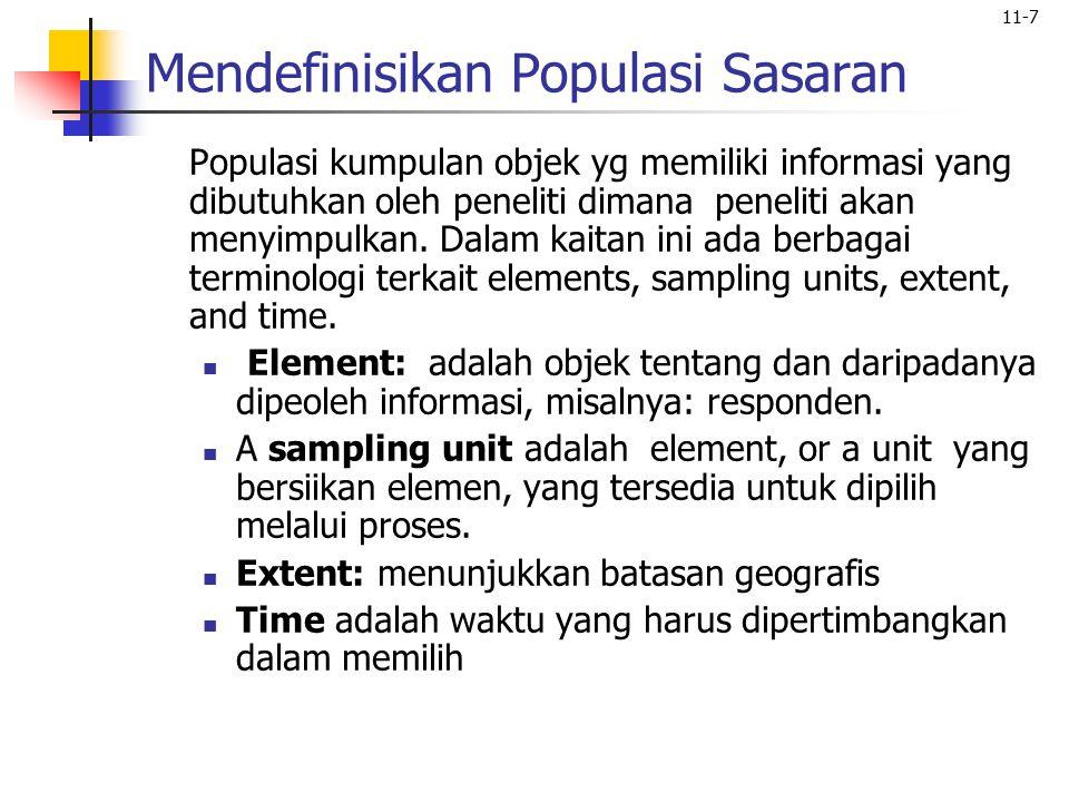Mendefinisikan Populasi Sasaran
