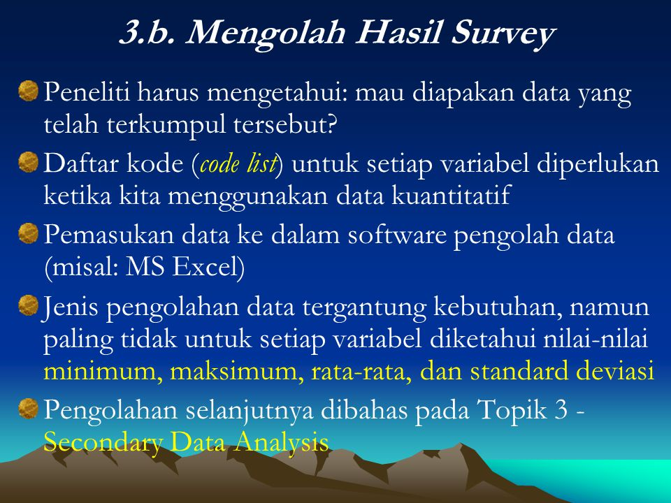 3.b. Mengolah Hasil Survey