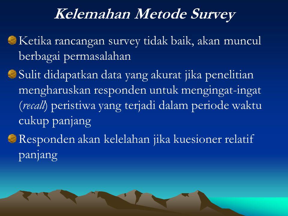 Kelemahan Metode Survey