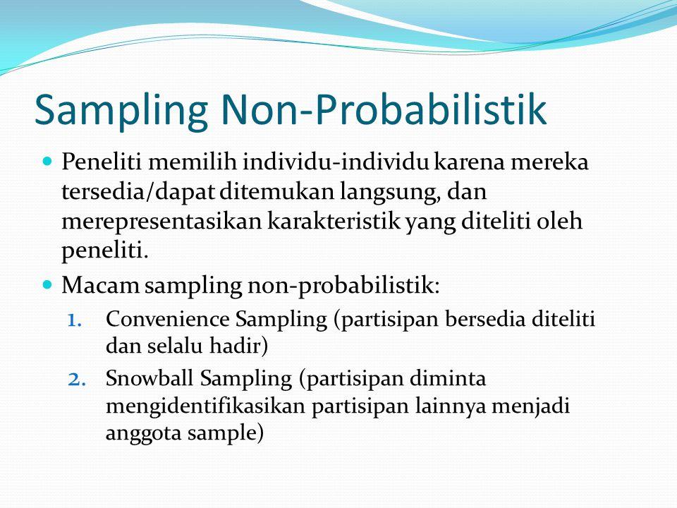 Sampling Non-Probabilistik