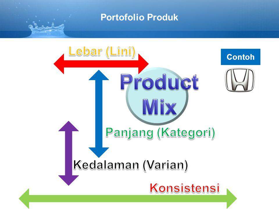 Product Mix Lebar (Lini) Panjang (Kategori) Kedalaman (Varian)