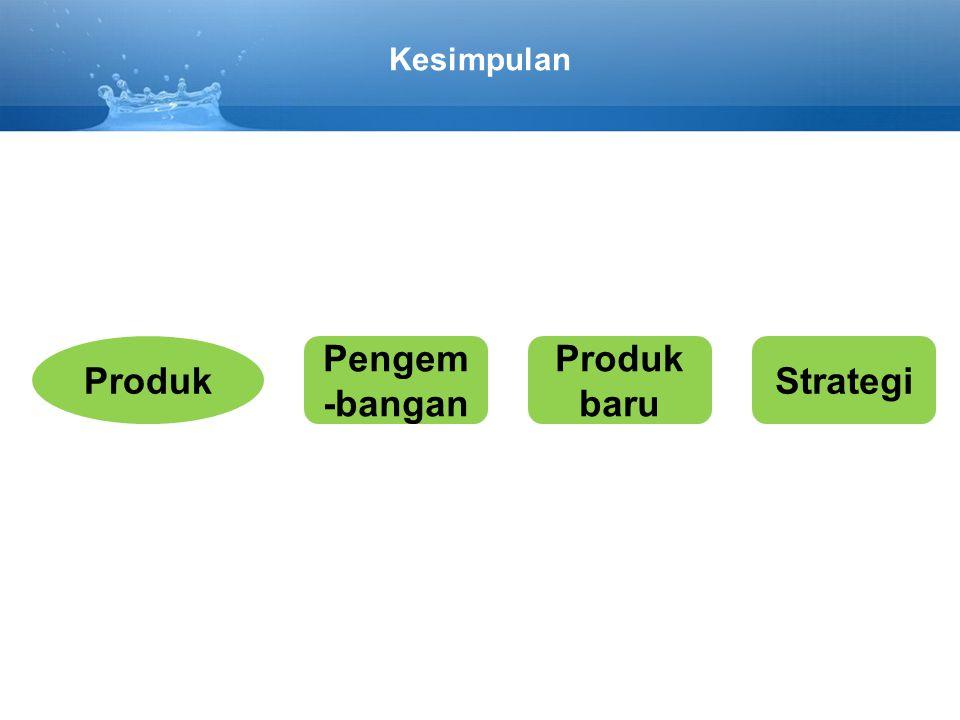 Produk Pengem-bangan Produk baru Strategi