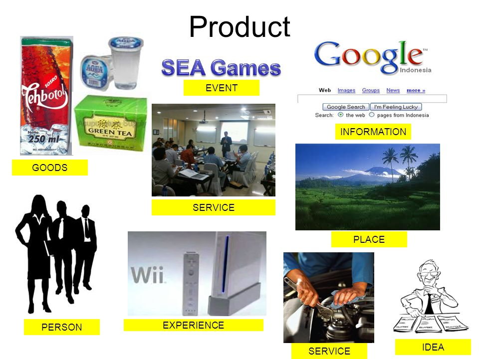 Product SEA Games EVENT INFORMATION GOODS SERVICE PLACE PERSON
