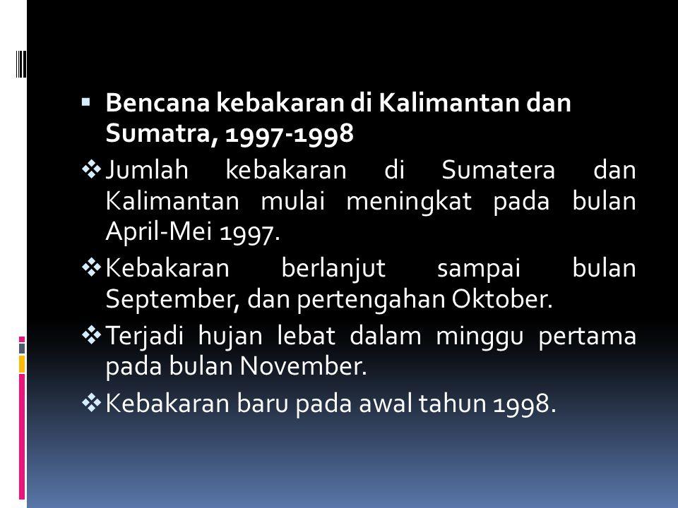 Bencana kebakaran di Kalimantan dan Sumatra, 1997-1998