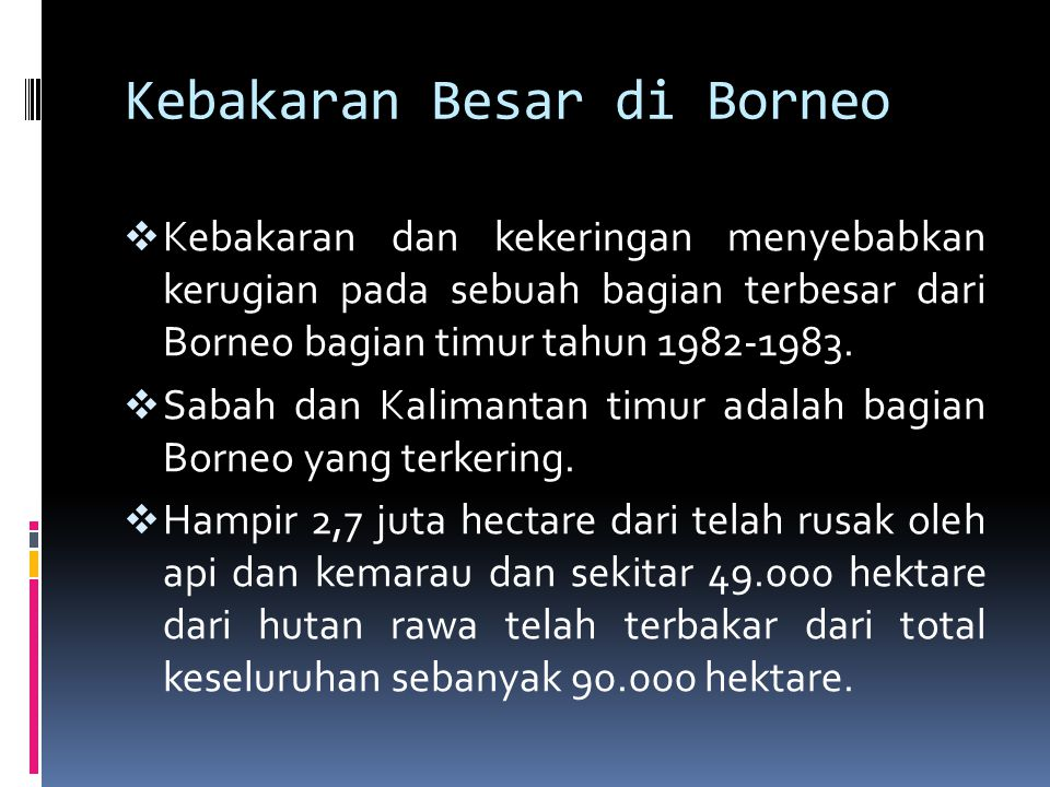 Kebakaran Besar di Borneo
