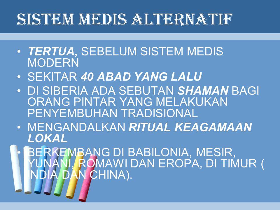 SISTEM MEDIS ALTERNATIF