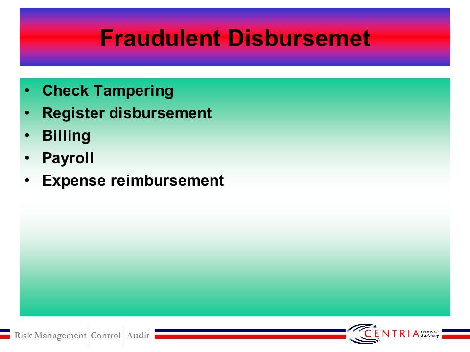 Fraudulent Disbursemet