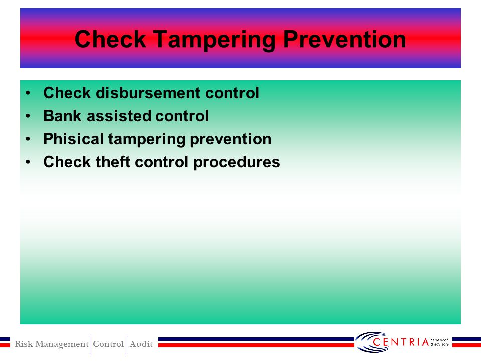 Check Tampering Prevention