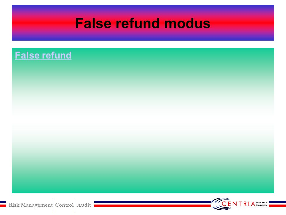 False refund modus False refund
