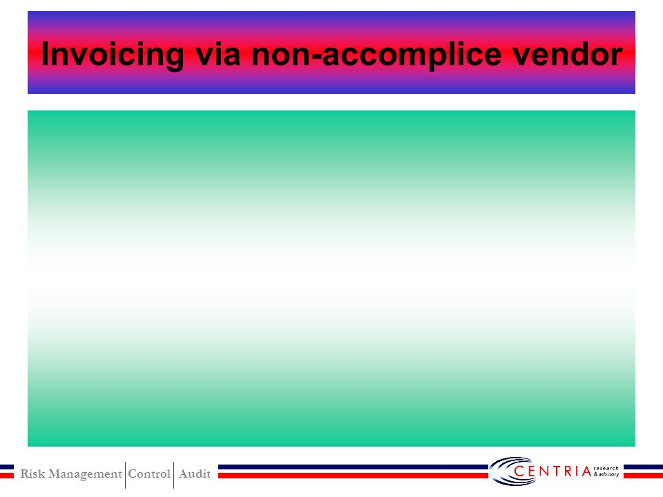 Invoicing via non-accomplice vendor