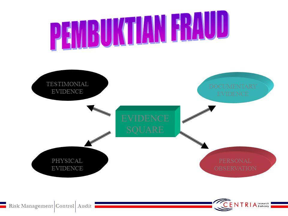 PEMBUKTIAN FRAUD EVIDENCE SQUARE TESTIMONIAL EVIDENCE DOCUMENTARY