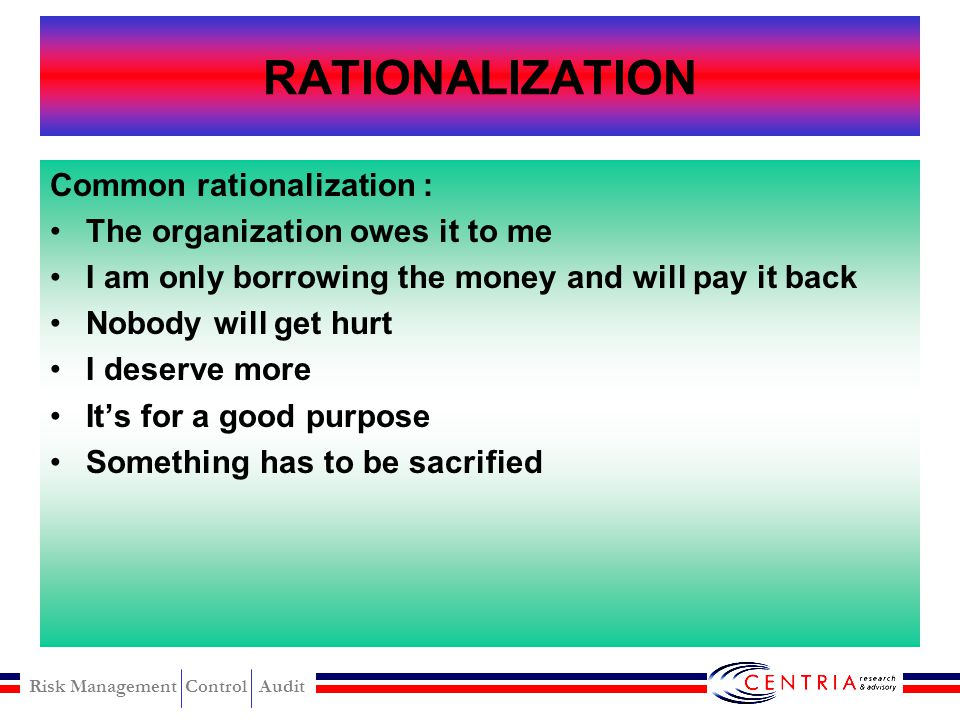 RATIONALIZATION Common rationalization :