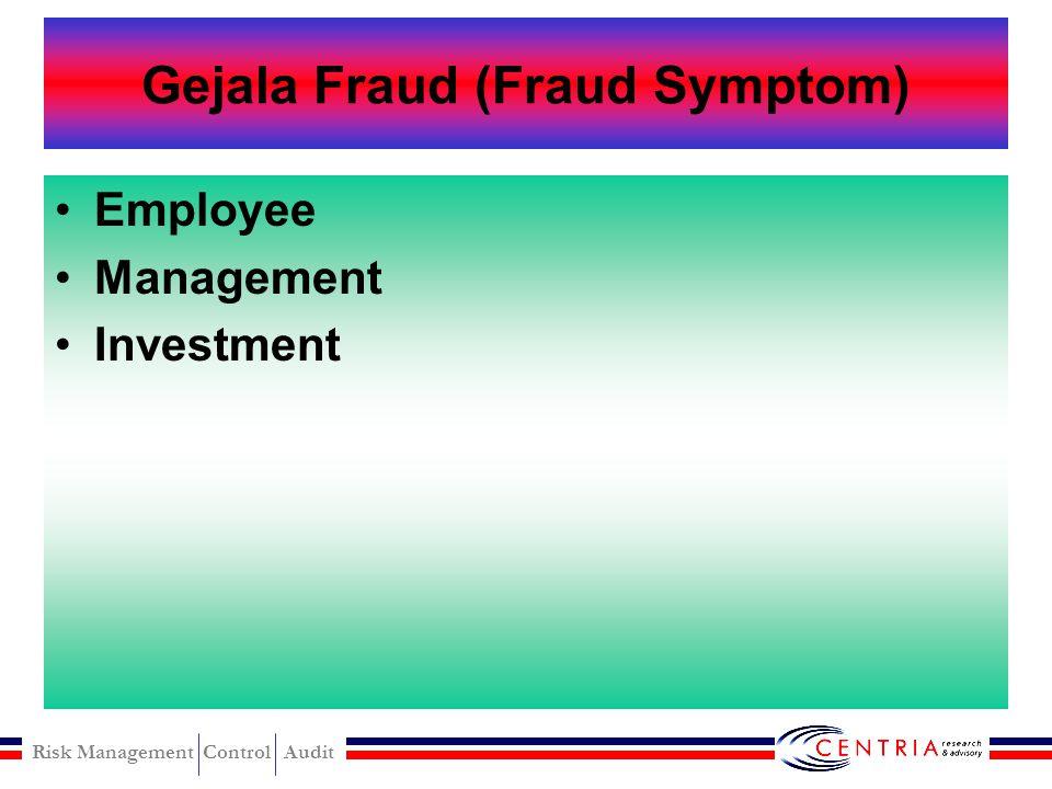 Gejala Fraud (Fraud Symptom)
