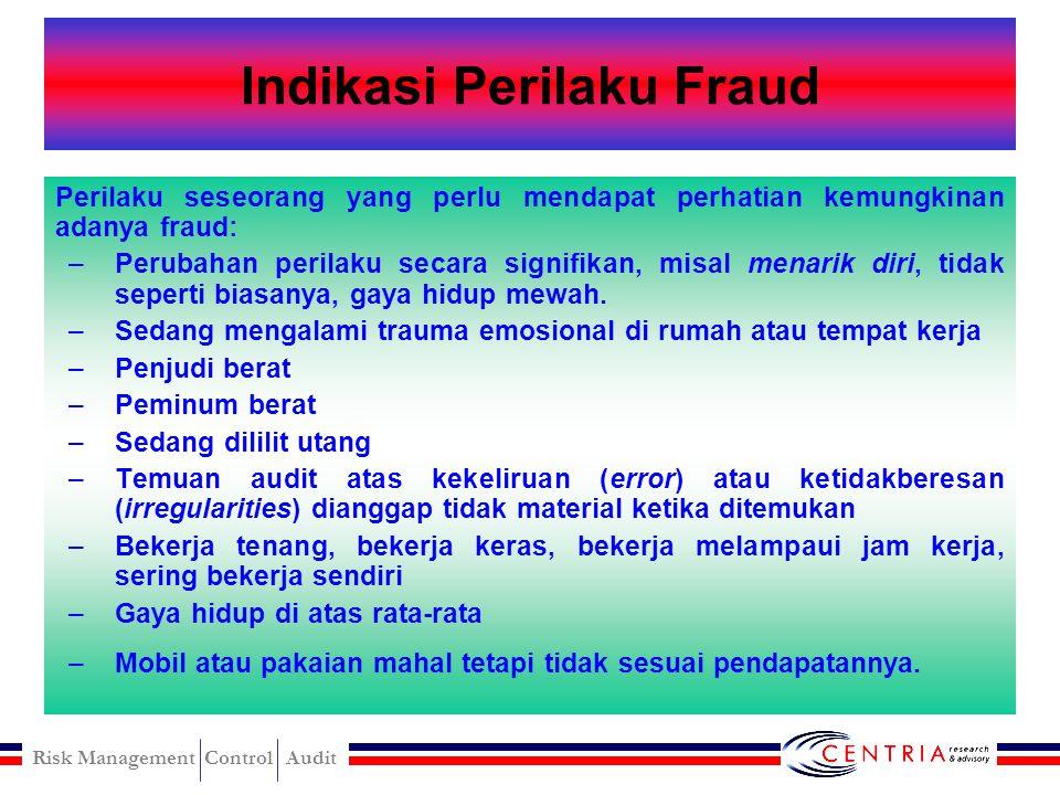 Indikasi Perilaku Fraud