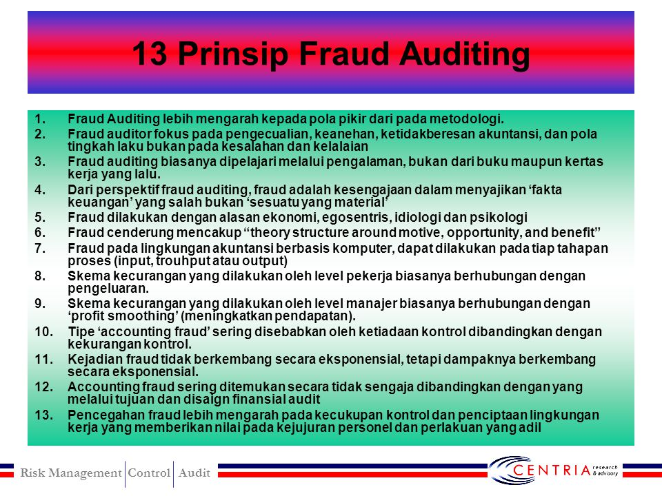 13 Prinsip Fraud Auditing