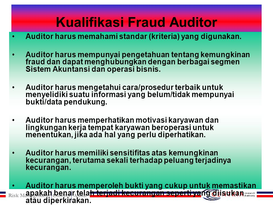 Kualifikasi Fraud Auditor
