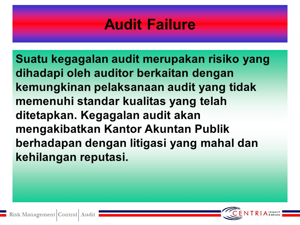 Audit Failure