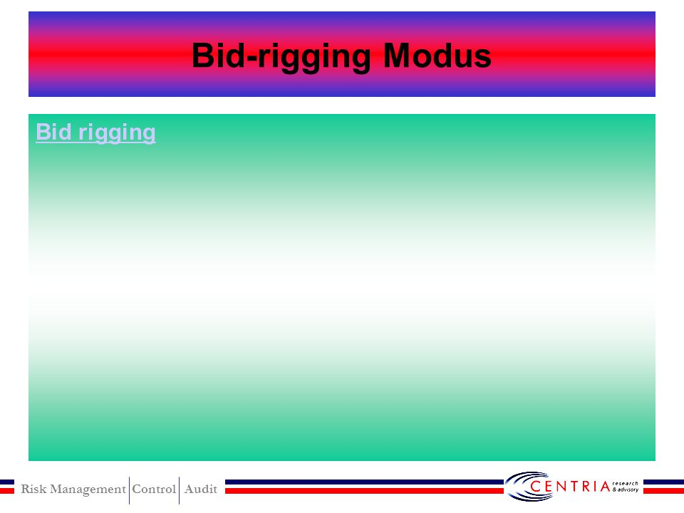 Bid-rigging Modus Bid rigging
